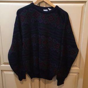 Vintage 80s 90s striped pattern sweater xl